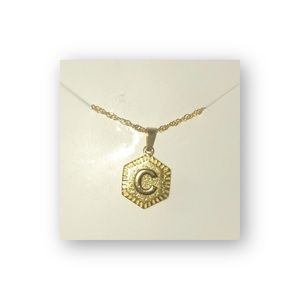 Jewelry - Initial 'C' Chain Letter Necklace